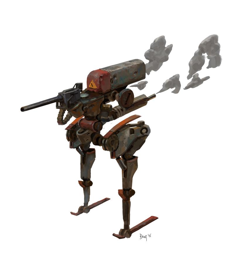 Rusty robot by onestepart
