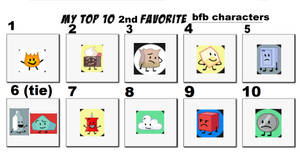 My Top 10 2nd Favorite Bfb Characters