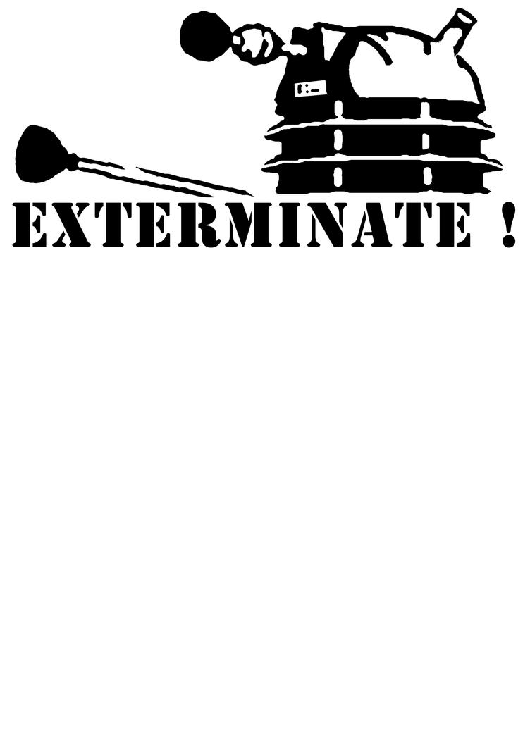 Dalek stencil by Styrr