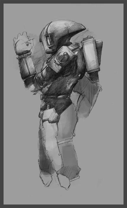 30MS - Tau Stature Sketch by martinhoulden