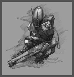 30MS - Tau Fire Warrior by martinhoulden