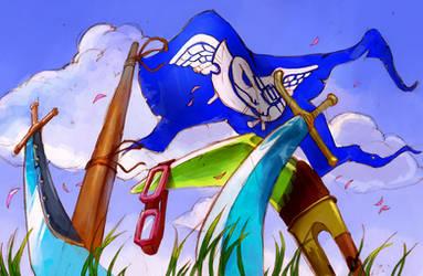 Blue Pirates by martinhoulden