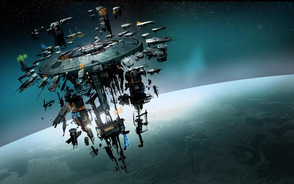 Elite Dangerous Space Station by martinhoulden on DeviantArt