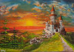 Acrylic Painting Castle