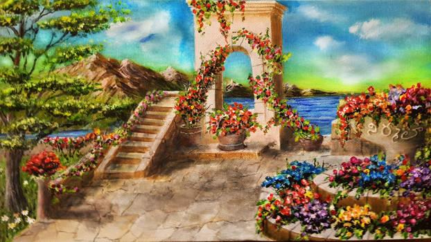 Acrykic Painting Garden