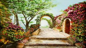 Acrylic Painting Fantastic Garden