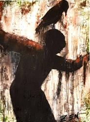 Abstract acrylic painting Dark Art