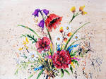 Abstract Acrylic Painting ' Flowers ' by XzenArtRB