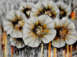 Abstract Acrylic Painting ' Flowers '