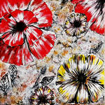 Abstract Acrylic Painting Flowers