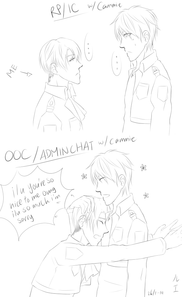 difference between IC and OOC by NomNom-Luffs
