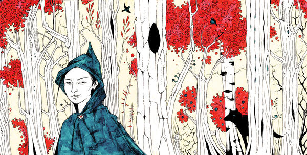 Green riding hood by Gogolle