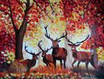 Deer forest by cicabogaj