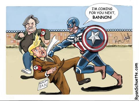 Captain America Punches Donald Trump