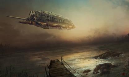 Cargo ship by JaMmanfre
