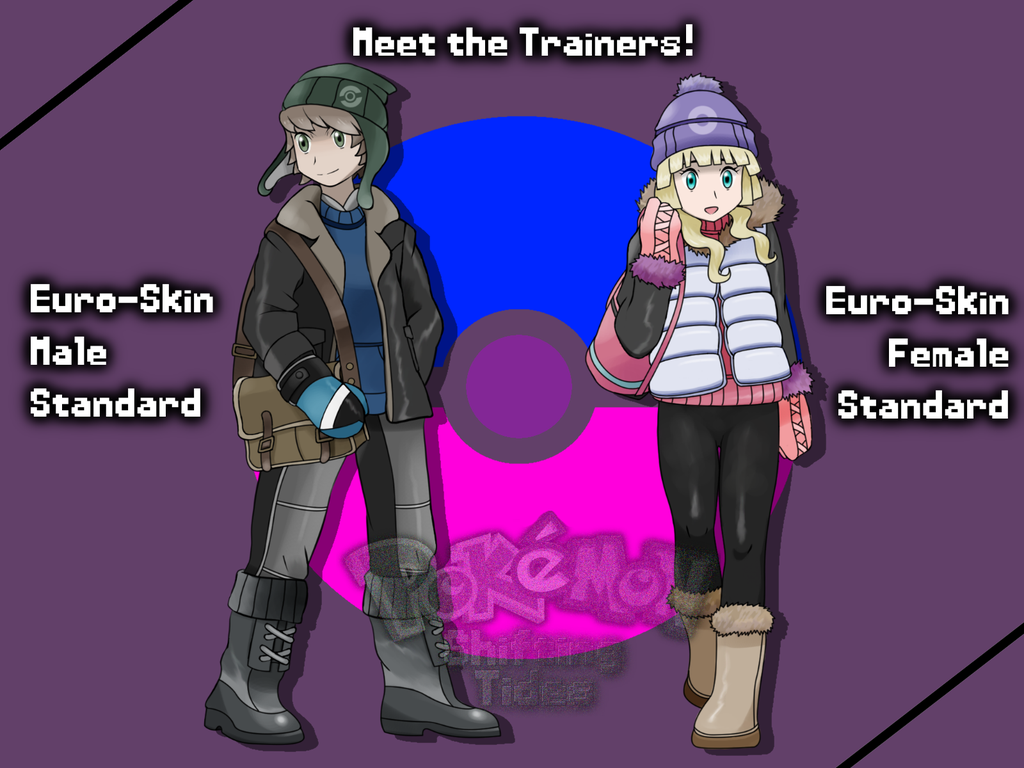 protagonists in pokemon shifting tides by j7663701 on deviantart