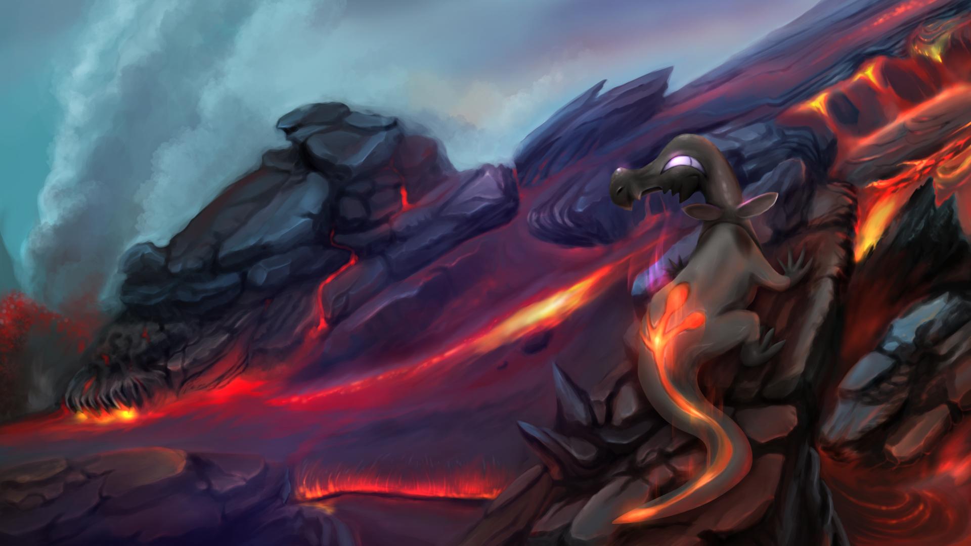 Pokemon Super Mystery Dungeon Fire Island Volcano