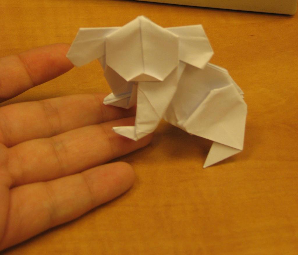 Easy origami KOALA instructions ♥ How to make an ORIGAMI KOALA ...   876x1024