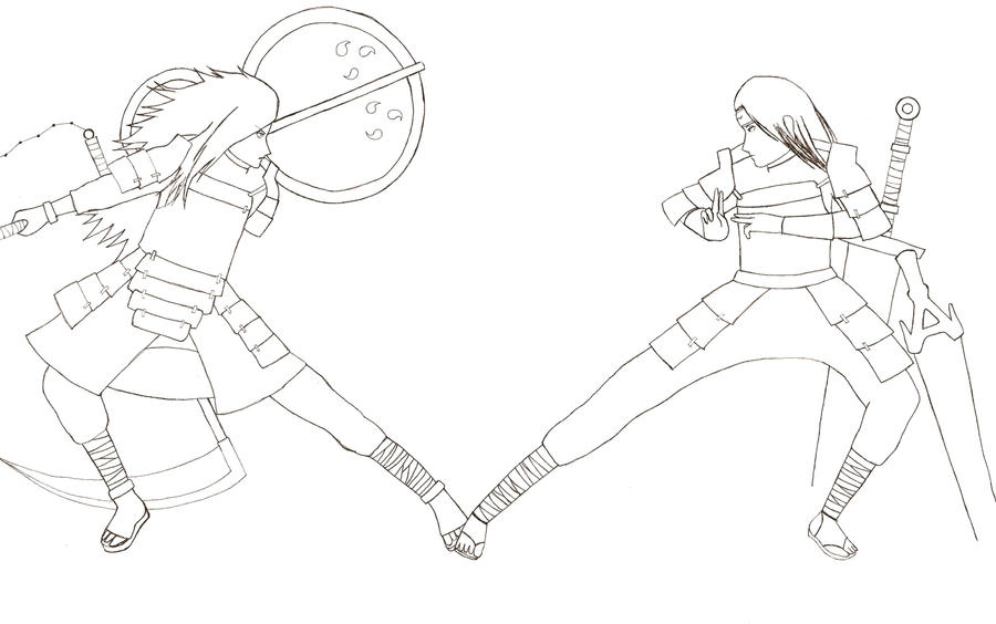 Hashirama vs. Madara - lineart by Metal-Amaya on DeviantArt