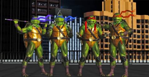 Teenage Mutant Ninja Turtles by WildGold