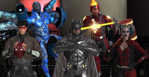 Team Batman : Injustice 2 by WildGold