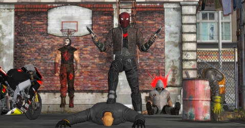 Red Hood's Street Cleaning by WildGold