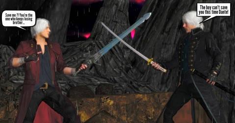 Dante vs Vergil Final Showdown by WildGold