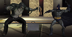 Batman vs Killer Croc from Batman: Hush the comic