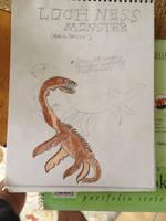 Cryptid Sketch: Loch Ness Monster AKA Nessie by Strikerprime