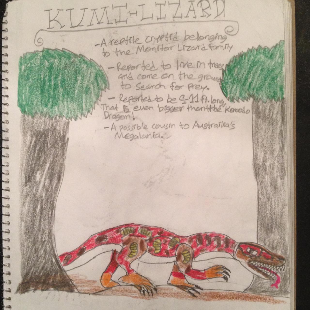 Cryptid Sketch: Kumi Lizard by Strikerprime on DeviantArt
