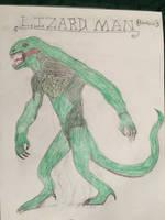 Cryptid Sketch: Lizard Man (Updated) by Strikerprime