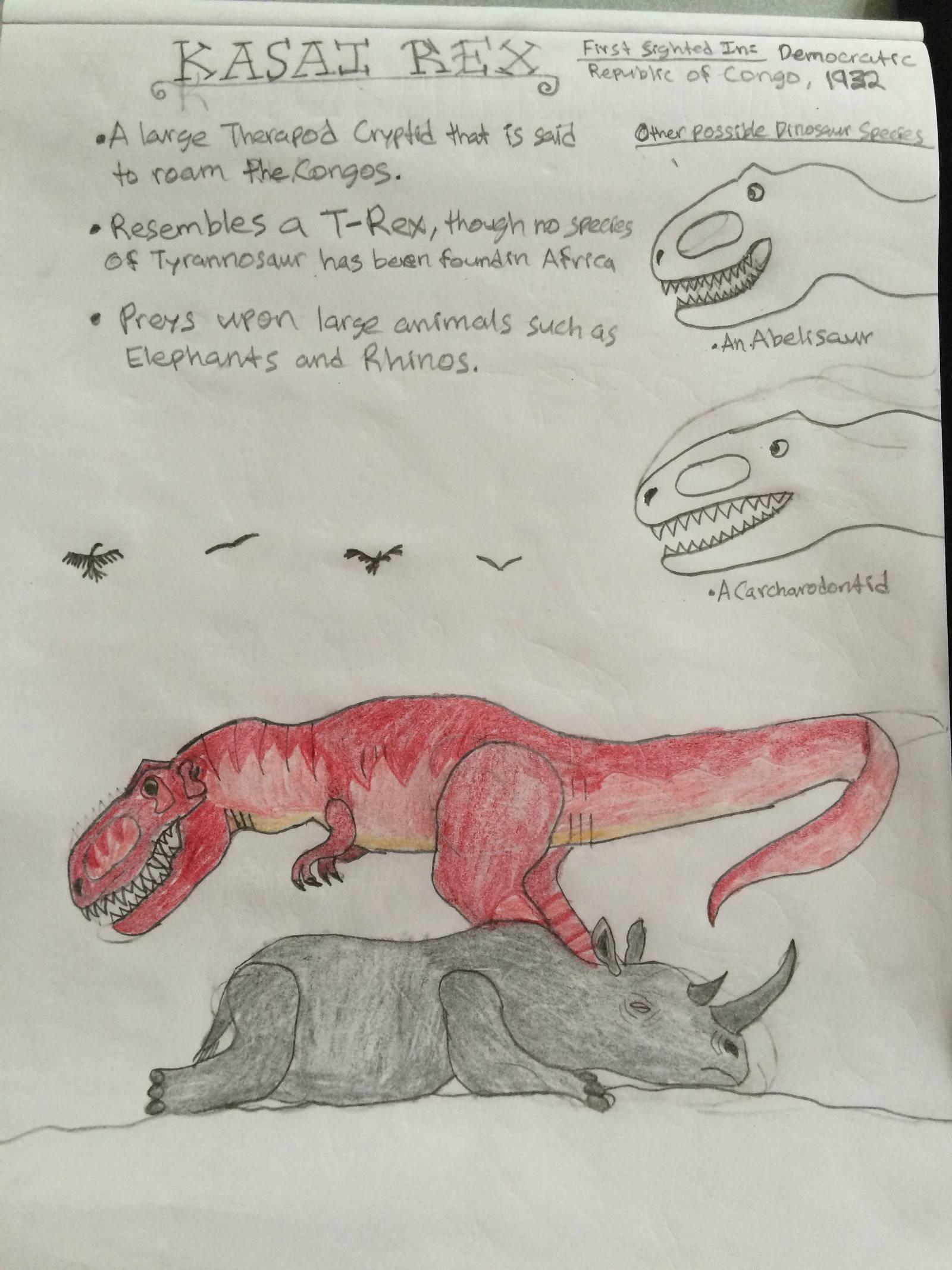 Cryptid Sketch: Kasai Rex (Updated) by Strikerprime