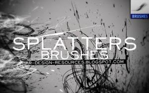 Splatters Brushes by FakeFebruary