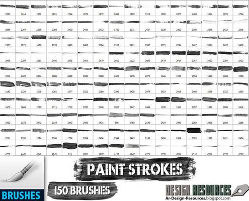 150 Paint Strokes
