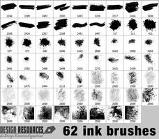 62 Ink Brushes by FakeFebruary