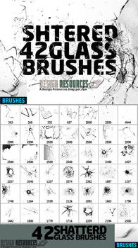 42 Shattered Glass Brushes by FakeFebruary