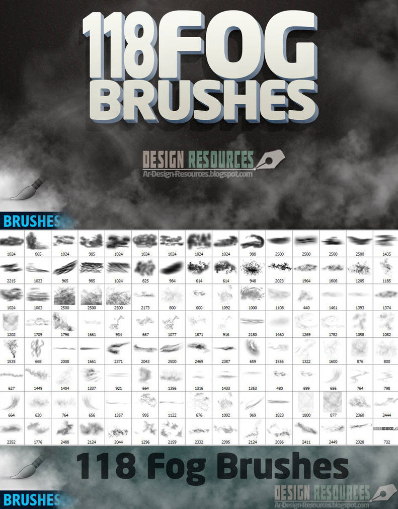 118 Fog Brushes by FakeFebruary