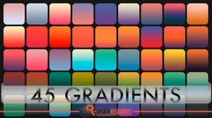 45 Free Photoshop Gradients by FakeFebruary