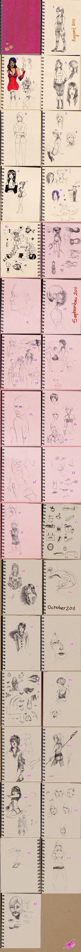 Pinkie Sketchbook dump