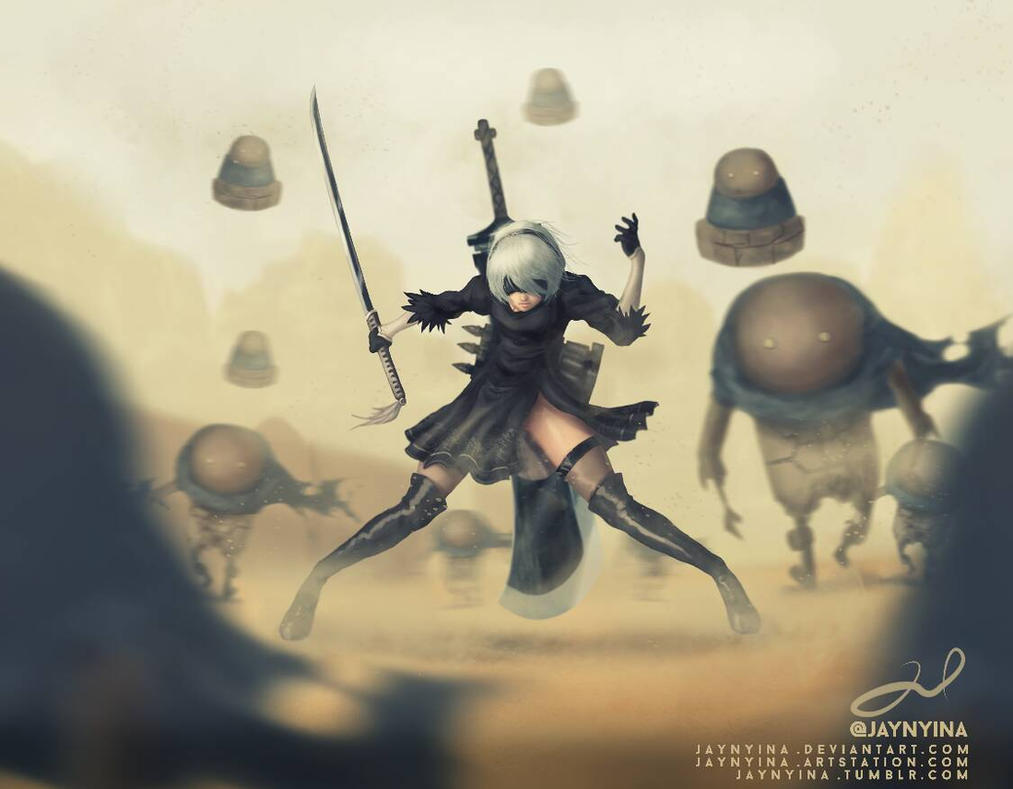 Nier Automata Fan Art Wallpaper 01 1920x1080: Nier:Automata Fanart By Jaynyina On DeviantArt