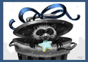 Holiday Card 2017: Trash Panda