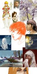 boring sketch dump by GreenSprite