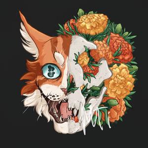 Brightheart - Marigold Dog Skull