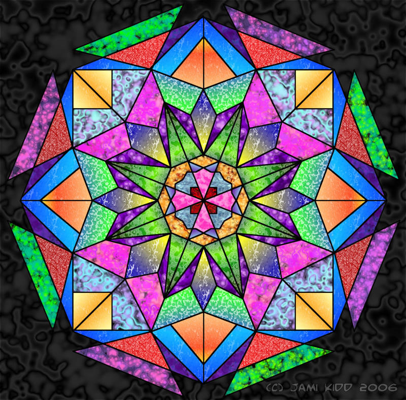 Radial Design Art : Radial stained glass by icearrow on deviantart