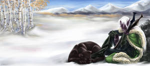 Drizzt Do'Urden - Alone... by Estfahan