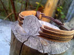 Gallifreyan! Doctor Who leather and metal bracelet