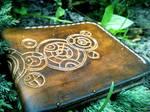 Doctor Who Gallifreyan leather wallet