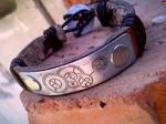 Doctor Who leather bracelet