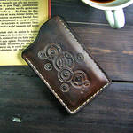 Doctor Who inspired leather phone case