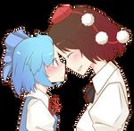 Touhou - Cirno and Shameimaru Aya